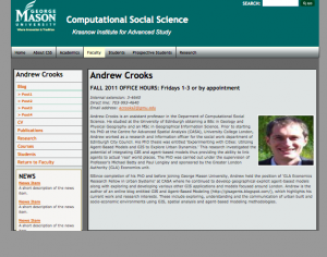 Faculty Profile Page
